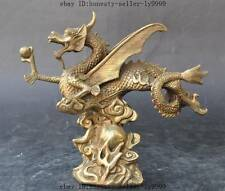 china brass Auspicious Zodiac Year animal dragon Feilong Pterosaur lucky statue