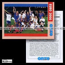 EQUIPE DE FRANCE CHAMPIONNAT D'EUROPE LES BLEUS EURO 2000 - Fiche Football 2000
