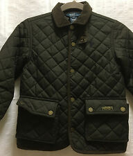 Polo Ralph Lauren Boys Dark Brown Diamond Quilted Jacket Size 4/ 4T