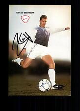 Oliver Bierhoff Autogrammkarte DFB Nationalspieler Original Signiert + G 13374