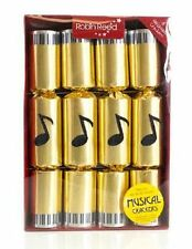Extra Large Musical Chime Luxury Crackers - Hand Made - Box of 8