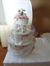 2000 Enesco - Made from Scratch - Love Birds - Wedding Cake w/Doves - # 797561