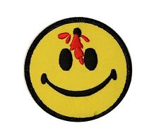 3 IN Smiley Happy Smile Face Bullet Bloody Embroidered Iron On Applique Patch FD