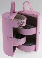 Mele Pastel Pink Tube Jewellery Travel Case Caddy  (5008)