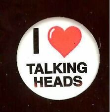 old I Love ( Heart ) Talking Heads Pin Pinback Button