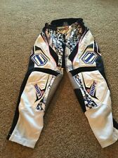 SHIFT MOTOCROSS PANTS MX DIRT BIKE OFF ROAD GEAR PINK WHITE BLUE BLACK Sz 28