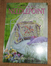 Floral Needlepoint by Melinda Coss