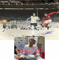 GEOFF HURST SIGNED ENGLAND 1966 WORLD CUP FINAL FOOTBALL HUGE 16x20 INCH PHOTO