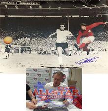"""Geoff Hurst Inghilterra Firmata 1966 FINALE WORLD CUP CALCIO Grande Fotografia 16""""x20"""""""