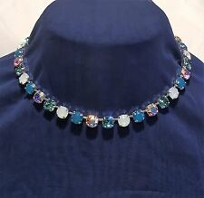 Cup Chain Necklace  Made With Genuine Swarovski Crystal