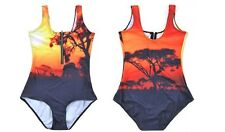 AFRICA ZIP UP PRINTED SWIMSUIT