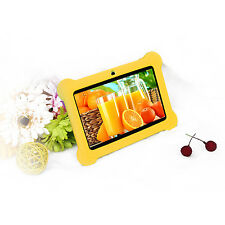 "Quad Core 7"" Tablet Kids 8GB HD Android 4.4 Dual Camera Wi-Fi Bluetooth Yellow"