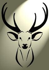 SHABBY Chic Stencil Stag DEER HEAD VINTAGE RUSTICO A4 297x210mm Muro Design 6