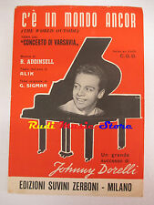JOHNNY DORELLI C'e'un mondo ancor 1959 RARO SPARTITO SINGOLO SUVINI cd lp dvd mc
