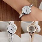Silver Women round dial Bracelet watch Quartz Wrist watch Silver watches