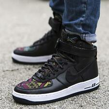 WOMENS NIKE AIR FORCE 1 HI TOP BLACK HISTORY MONTH QS TRAINERS UK SIZE 6.5 BLACK
