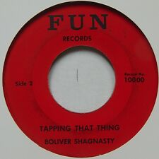 BOLIVER SHAGNASTY tappin that thing SLEAZY ROCKABILLY 45 on FUN hear