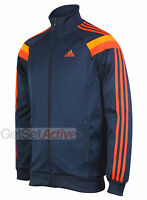 adidas Mens Performance Anthem Navy Full Zip Tracksuit Training Top Track Jacket