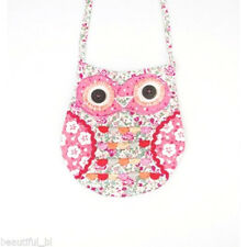 NEW Owl Bag Cross body Messenger Small Hand bag Holdall Vintage Floral Pink Tote