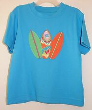 New In Bag Kelly's Kids David Bight Turquoise Appliqued Surfboards Shirt ~ 12M