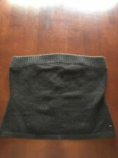Tommy Hilfiger Demin Tube Top Black Sweater Lambswool & Angora Small NWT's