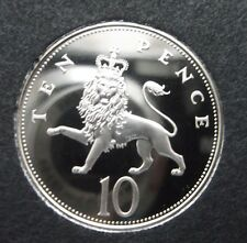 1982 10P Larger proof Coin. Not released. Low Mintage of Proof. Toned but o.k