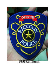 Raccoon police Officer Resident Evil Patch Badge 9.5x11 cm