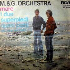 """OST I DUE SUPERPIEDI QUASI PIATTI RARE PROMO  7"""" M & G ORCHESTRA ITALY 1977 RCA"""