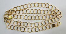 SOLID 22K GOLD HANDMADE LINK CHAIN NECKLACE FROM RAJASTHAN INDIA