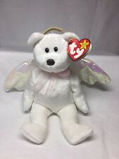 Retired TY Beanie Baby Halo The Guardian Angel Bear Tag Error Brown Nose # Stamp