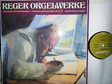 REGER Orgelwerke Organ Works Choral-Fantasien Fantasie & Fuge Weyer 4 LP NM