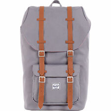 $250 HERSCHEL Little America Mens UNISEX BACKPACK GRAY TRAVEL SCHOOL WORK BAG