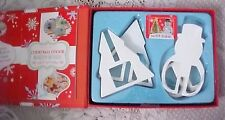 "Winter 3D Cookie Cutter Kit Makes Tree & Snowman NEW 4"" with Recipe Booklet"
