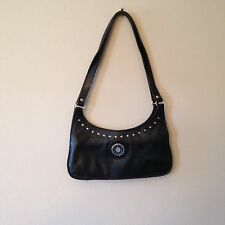 Vtg 90s Black Leather Harley Davidson Biker Babe Motorcycle Purse Hand Bag