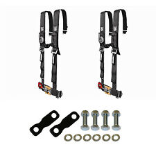 "Pro Armor 4 Point Harness 2"" Pads Seat Belt Pair With Mount Kit Black YXZ 1000R"
