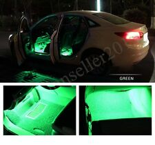 2x9LED 12V Green Car Interior Floor Decorations Auto Light Lamp Strip Accessorie
