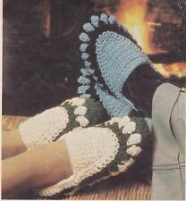 CROCHET SLIPPERS ADULT - jet or 12ply - crochet  pattern
