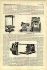 1893 Developments Hydraulic Machinery Olive Press Pipe Testing