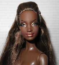 "*NUDE BARBIE ~ BRUNETTE MBILI AA ""THE LOOK CITY SHINE "" MODEL MUSE DOLL FOR OOAK"
