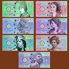 SET, Poneet Islands (Mujand) 3;10;20;50;100;200;500 Kasutu, 2015, POLYMER UNC