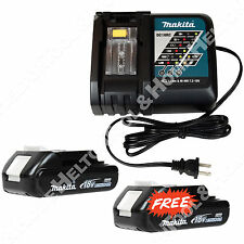 Makita DC18RC Li-Ion Charger and One 18V BL1820 Battery - Get One BL1820 FREE!