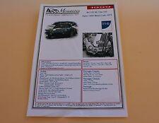 JL Planche papier montage voiture Alpine 1800 Monte Carlo 1975 Heco miniatures