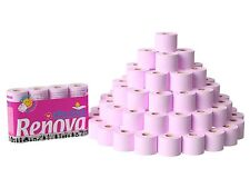 Renova 3Ply Rose Macadamia Lotion Skincare Pink Toilet Tissue Roll (60 Rolls)