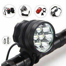 10000lm 7 CREE T6 LED Fahrradlampe Scheinwerfer head kopflamp Akkupack bikelight