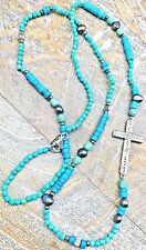 "Silpada ""Ideal"" .925 Sterling Silver Howlite Pearl & Pyrite Cross Necklace N3028"