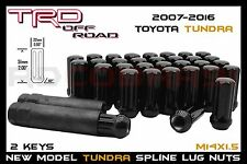 2007-2016 TOYOTA TUNDRA BLACK 7 SPLINE LUG NUTS 14X1.5 THREAD 5x150 NEW MODELS