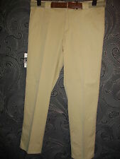 NEW + TAGS MEYER 'MONZA' COMFORT STRETCH BEIGE LIGHTWEIGHT CHINOS + BELT 48 / 32