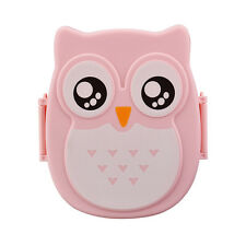 Owl Pattern Lunch Box Container Eco-friendly Storage Box Portable Bento Box N1