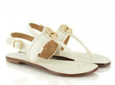 Tory Burch Selma Flat Thong Slingback Sandal White Size 7