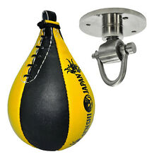 Senshi Japan Heavy Duty Cowhide Leather Speed Ball Interval Boxing MMA Training